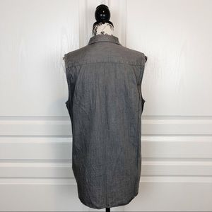 Everlane Tops - Everlane Poplin Sleeveless Blouse Gray